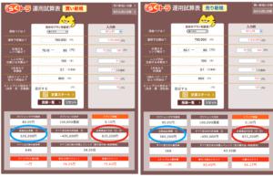 豪ドル/円の設定「らくトラ運用試算表」